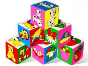 кубики мягкие