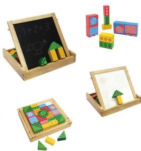 i'm toy деревянный конструктор и доска для рисования